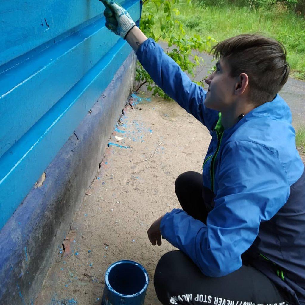 Обновление территории лагеря Лесная сказка в Орске
